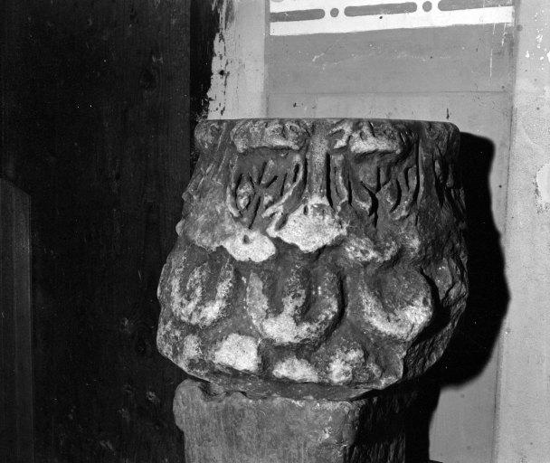 Chapiteau Gallo-romain réemployé en bénitier