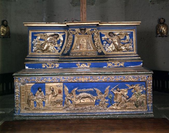 Autel, tabernacle (tabernacle à ailes) : maître-autel