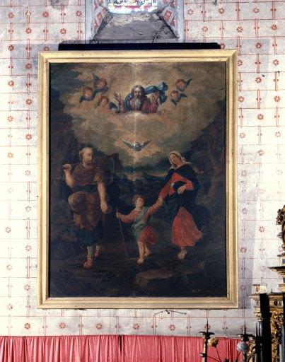 Tableau et son cadre : Le retour d'Egypte de la Sainte Famille