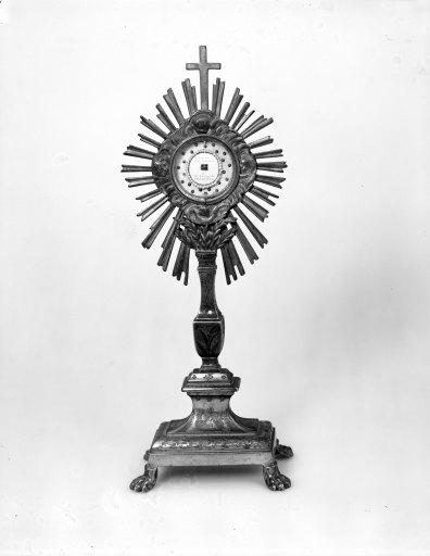 ostensoir, reliquaire, de sainte Thérèse de l' Enfant Jésus