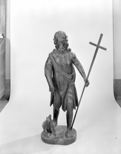 groupe sculpté (petite nature) : saint Jean-Baptiste
