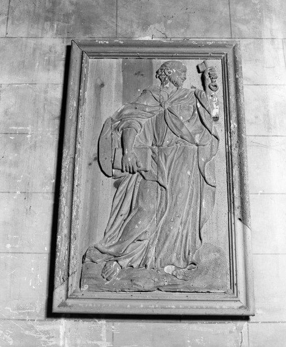 Bas-reliefs (4) : saint Pierre, saint Barthélémy, saint Paul, saint Jean