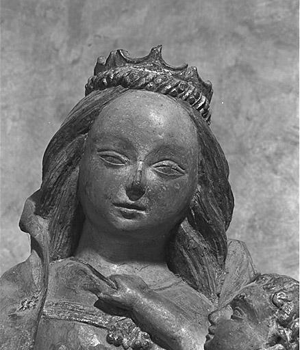 Groupe sculpté (petite nature) : la Fuite en Egypte