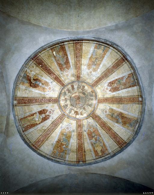 Peinture monumentale de la coupole ouest : Martyre de saint Etienne, Prophètes