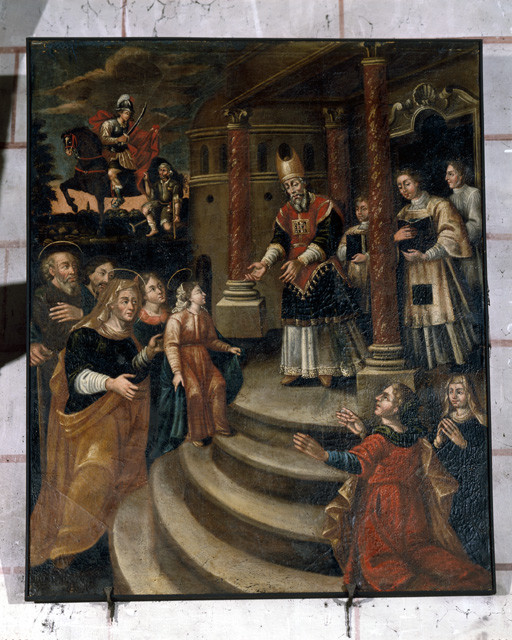 Tableau : Présentation de la Vierge au Temple
