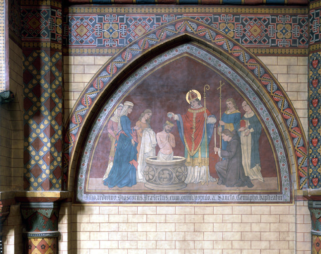 Peinture monumentale du choeur