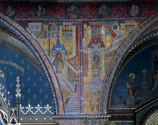 peinture monumentale du mur sud de la nef