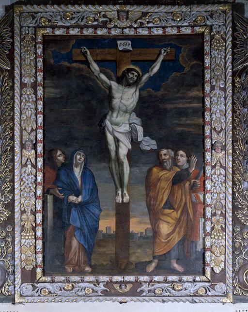 tableau du retable du maître-autel : Crucifixion