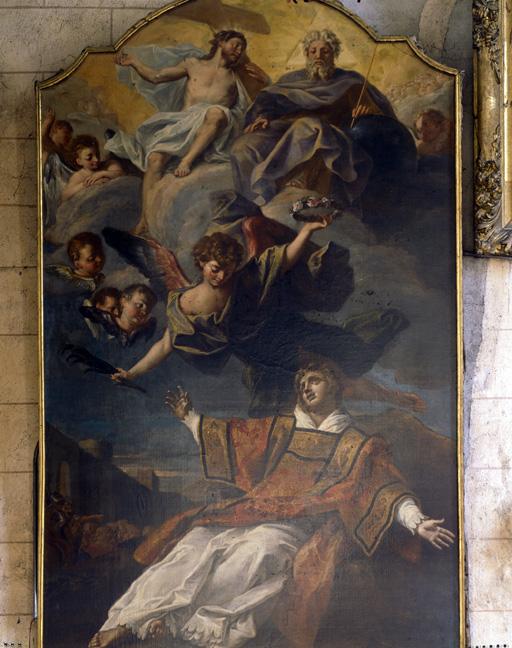 tableau : Vision de saint Etienne