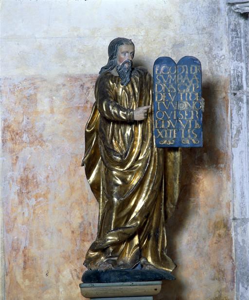 Statue : Moïse présentant les Tables de la Loi aux Hébreux