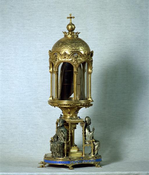 Reliquaire-monstrance, néo-gothique, de la Sainte Coiffe