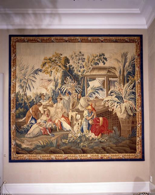 Pièce murale : Princesse aux fleurs, Jardin chinois