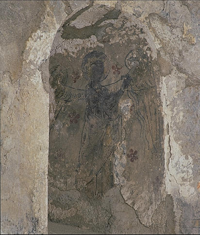 Peinture monumentale : Ange adorateur, Nativité