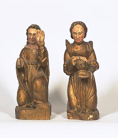 Statues (2) : saint Jean, sainte Marie-Madeleine