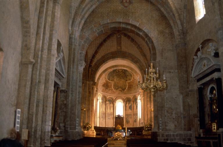 Ensemble des décors 15e de la nef : peinture monumentale