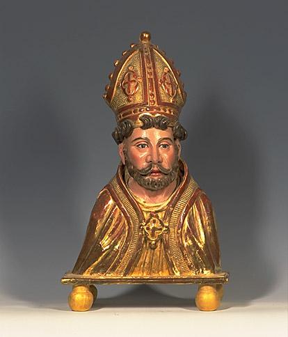 Buste-reliquaire de saint Ebons