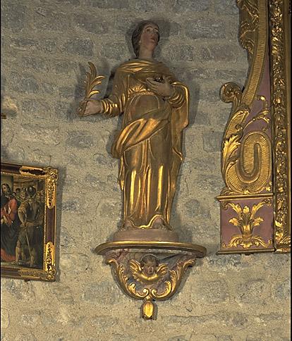 Statue : sainte Luce