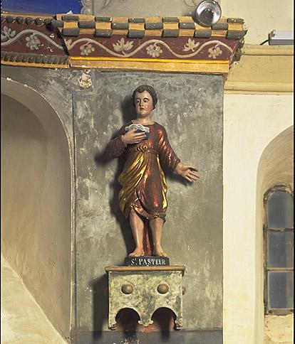 Ensemble de 2 statues : saint Just, saint Pasteur