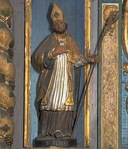 Ensemble de 2 statues : saint Joseph, saint Blaise