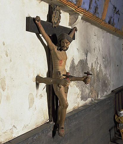 Croix : Christ en croix ; bras de lumière (2)