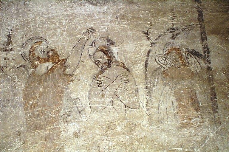 Peinture monumentale de la chapelle des fonts : Baptême du Christ