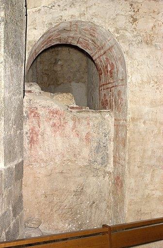 peinture monumentale du caveau sud : les funérailles d'Auger de Montfaucon