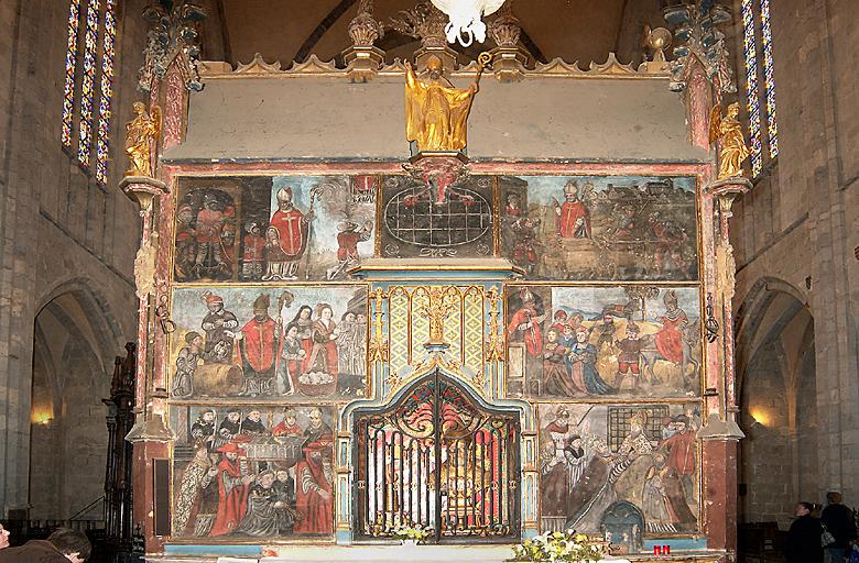 Peinture monumentale ; monument funéraire : Vie de saint Bertrand