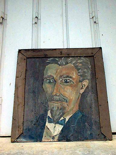 Tableau et son cadre : Portrait d'homme