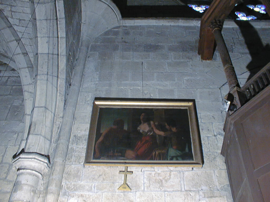 Tableau et son cadre : Le Martyre de sainte Agathe