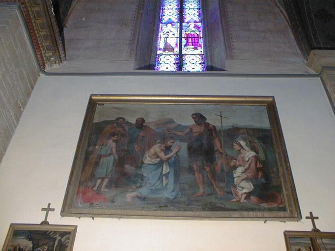 tableau et son cadre : Le Baptême du Christ