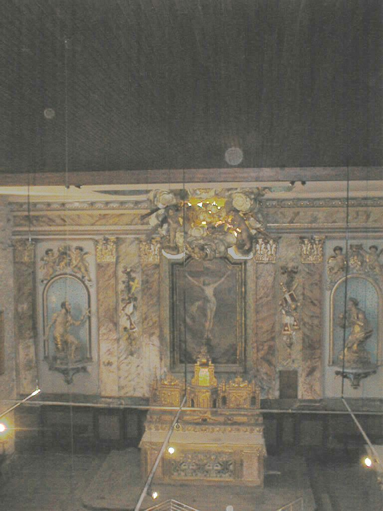 tableau d'autel du retable du maître-autel : Christ en croix