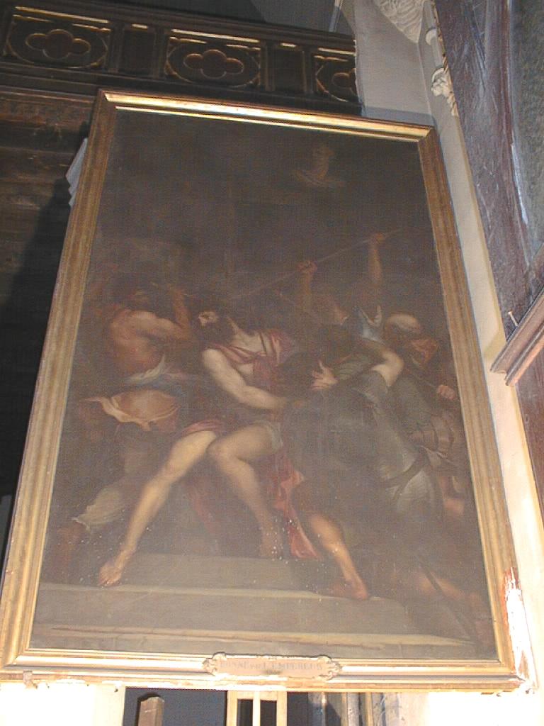 tableau et son cadre : Le Christ couronné d'épines