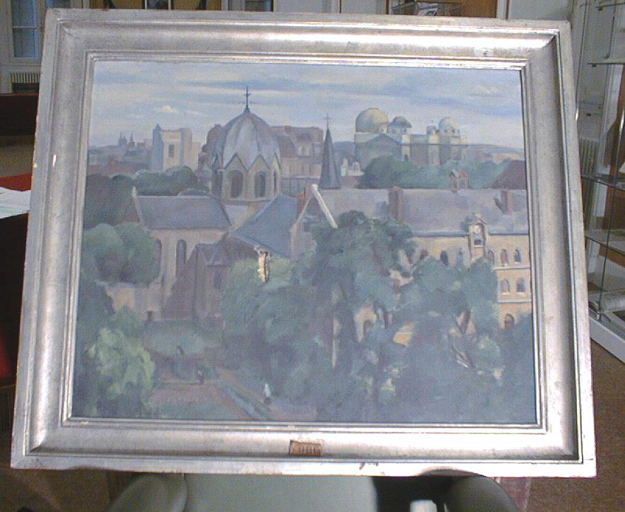 tableau et son cadre : Vue de l'Observatoire de Paris dit Paysage