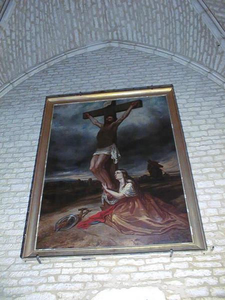 tableau et son cadre : La Madeleine au pied de la croix