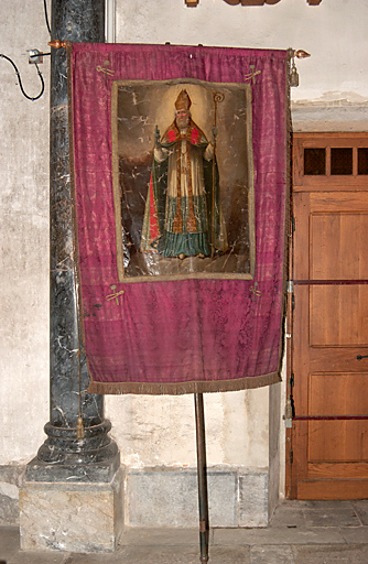 Bannière de procession : Saint Eloi, Saint Pierre