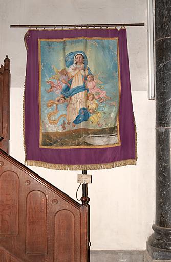 Bannière de procession : Assomption de la Vierge, Saint Isidore le Laboureur