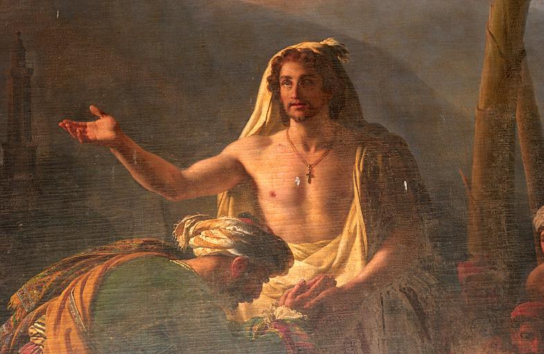 tableau et son cadre : Saint Vincent de Paul convertissant son maître