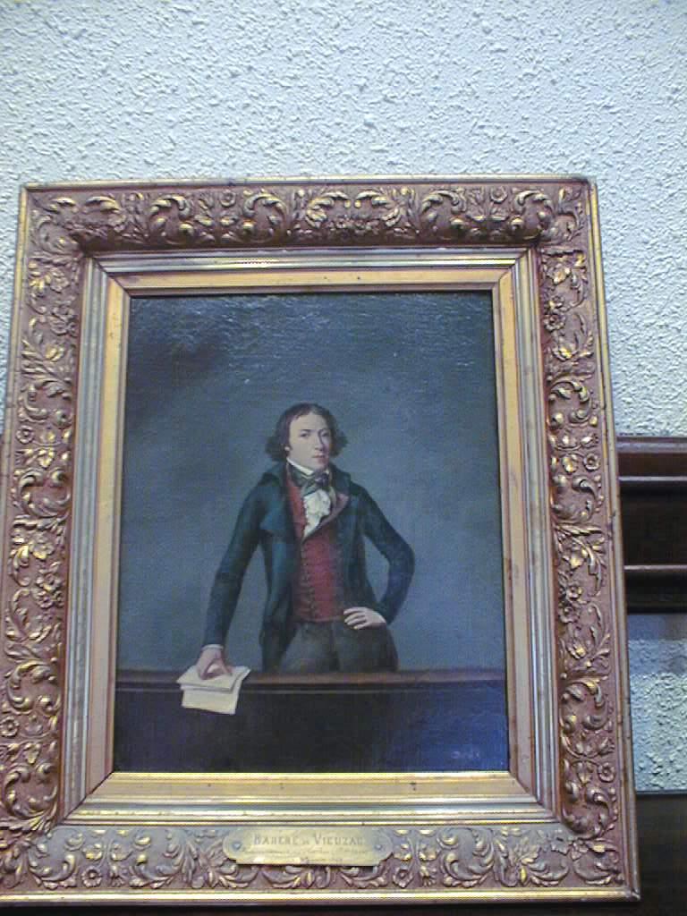 tableau et son cadre : Portrait du parlementaire Bertrand Barère de Vieuzac