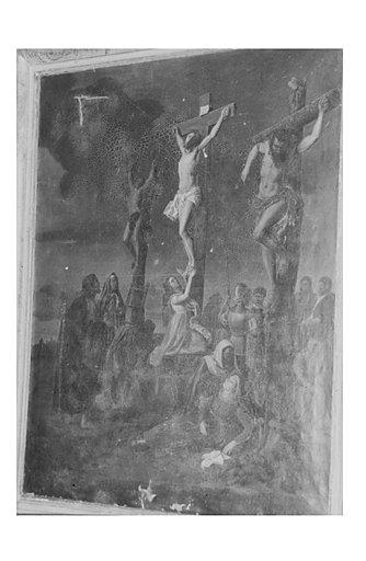 tableau et son cadre : Calvaire avec les Saintes Femmes