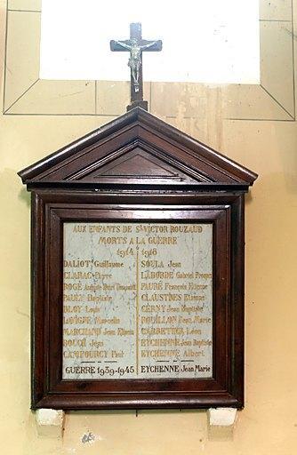 Tableau commémoratif des morts de la guerre de 1914-1918 et de la guerre de 1939-1945