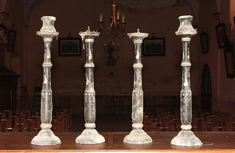 Ensemble de 6 chandeliers funéraires