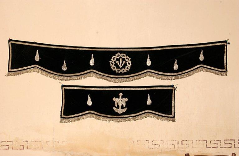 Garniture de corbillard : 4 pentes de corbillard
