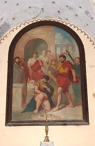 Tableau d'autel et son cadre : Martyre de saint Victor