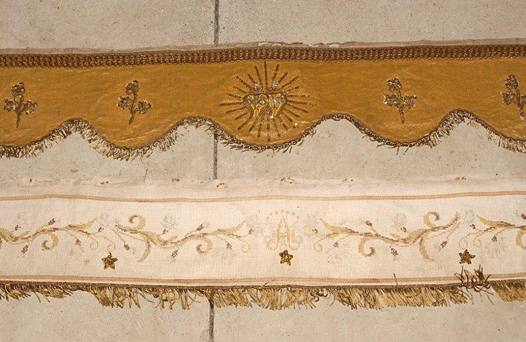 tour d'autel : Sacré-Coeur du Christ et de la Vierge