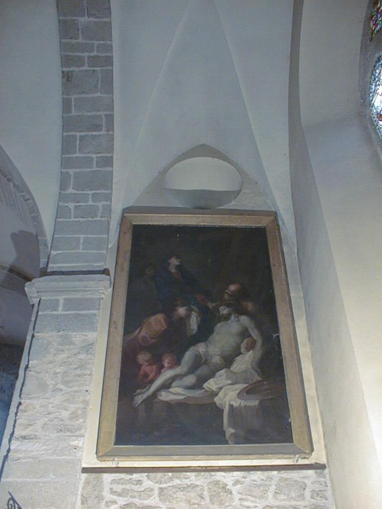 tableau et son cadre : La Descente de croix