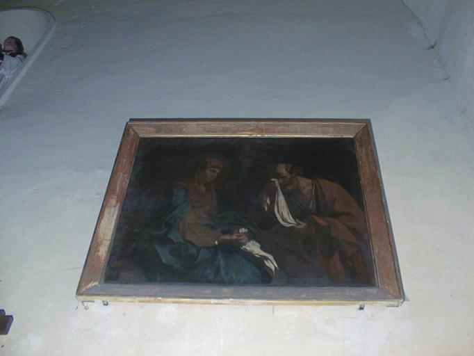 tableau et son cadre : Saint Pierre pleurant devant la Vierge dit Les larmes de saint Pierre