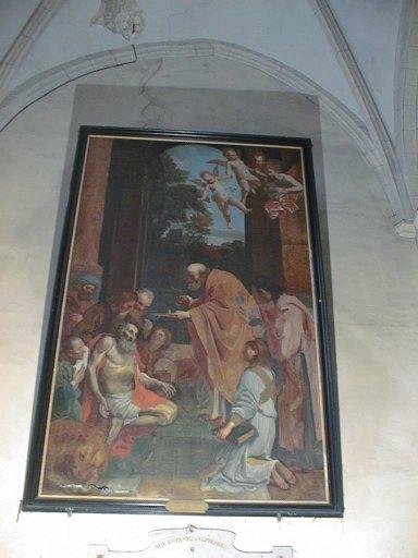 tableau et son cadre : La Dernière communion de saint Jérôme