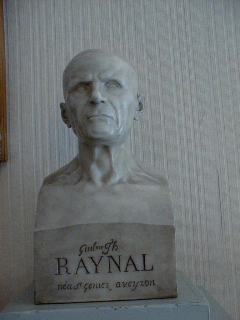 Buste à mi-corps (buste en hermès) : Portrait de l'abbé Guillaume-Thomas Raynal (1713-1796)