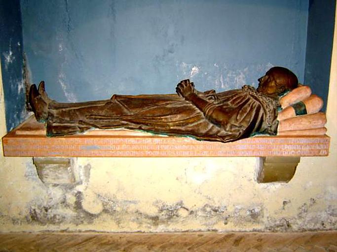 statue (gisant grandeur nature) : Madame Jean-Paul Laurens née Madeleine Willemsens