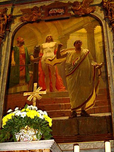 Tableau d'autel central du retable du maître-autel : Ecce Homo